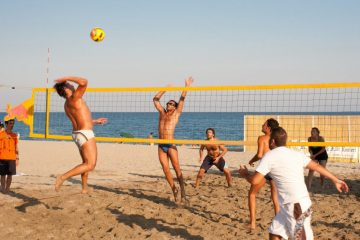 beach volley narbonne-plage