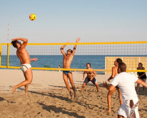 Sport plage méditerranée